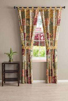 Amazon.com : french country bedrooms colors Cabin Curtains, Tab Top Curtains, Country Curtains, Drapes Curtains, Valances, Drapery, Country Bedrooms, Burlap Curtains, Bedroom Curtains