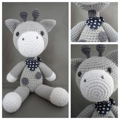 Crochet giraffe - pattern available to buy from Christel Krukkert on Ravelry. Crochet Giraffe Pattern, Crochet Toys Patterns, Amigurumi Patterns, Stuffed Toys Patterns, Crochet Designs, Crochet Teddy, Cute Crochet, Crochet Dolls, Crochet Yarn