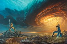 (Revised) original artwork by Michael Whelan for 'Words of Radiance', second book in the epic fantasy series 'The Stormlight Archive' by Brandon Sanders. 'Words of Radiance' book cover art (revised) Norman Rockwell, Sci Fi Fantasy, Fantasy World, Fantasy Books, Fantasy Literature, Fantasy Authors, Fantasy Fiction, Fantasy Warrior, Kaladin Stormblessed