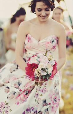 #tropicalweddingbouquet see the entire wedding  → http://weddingchicks.com/2015/09/15/boho-chic-wedding-in-hawaii/