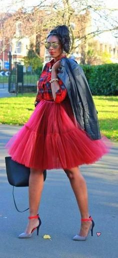 Tulle and plaid. My winter obsession