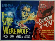 The Curse of the Werewolf 1961 Quad Poster Sci Fi Horror, Gothic Horror, Movie Poster Art, Film Posters, Hammer Films, Famous Monsters, Classic Horror Movies, Classic Monsters, Vintage Horror