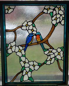 Blue Birds in Love. 11X14 Frame. Pam