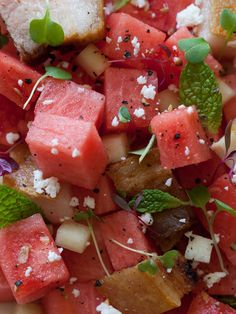 Our Watermelon Feta & Crispy Pork Belly Salad is perfect for summer picnics and BBQs. The flavors work really together, and the crispy pork is so good!