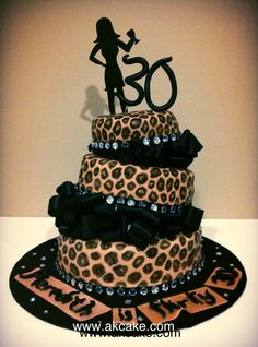 Leopard Birthday Cake.