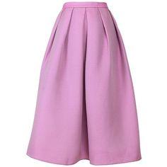 TIBI Simona Jacquard Full Skirt (€355) ❤ liked on Polyvore featuring skirts, navy, pleated midi skirt, pink pleated skirt, midi skirt, navy a line skirt and navy pleated skirt