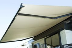 Carefree Apex Awning - The Apex Patio Awning offers the coach owner an awning system that provides as much or as little shade as required. #LiveCarefree