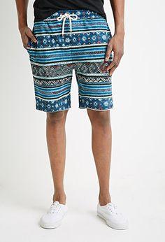 Tribal Print Drawstring Shorts | 21 MEN - 2000130249