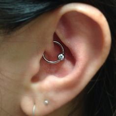 For the Minimalists: Simple Swarovski Daith Piercing Jewelry at MyBodiArt
