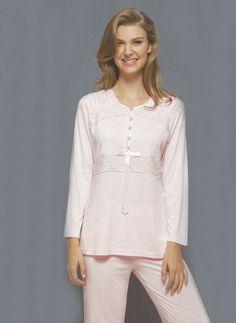 Pijama ve Gecelikler Marilyn 1758 drapeli bayan pijama takım Pijamadeposu.com.tr'de Rahatlığın Net adresi