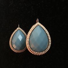 Earrings Small blue and gold drop earrings. New! Super Cute! Jewelry Earrings