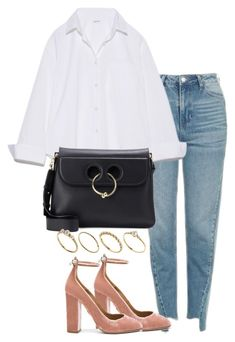 """Untitled #2932"" by theeuropeancloset ❤ liked on Polyvore featuring Topshop, Aquazzura, J.W. Anderson and ASOS"