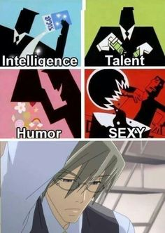Lol  Junjou Romantica (Power Puff Girl reference! hahahahha) --->>> i think someone switched humor and talent...