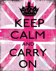 keep calm and carry on pink