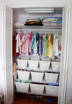 Small closet organization idea.