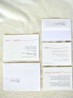 The Minimalist - a simple, clean wedding invitation suite from anna.michelle Cards. $4.20, via Etsy.