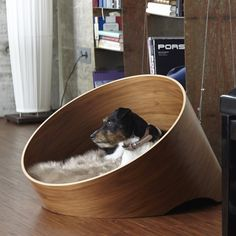 Indulge your four-legged friend with the instantly iconic Covo dog lounge. The Covo bed offers the ultimate in style and comfort for your dog, while the striking circular form has real wow factor for design-lovers. Small dogs love the enclosed form of the Covo; the raised rear of the bed offers a cosy, protected space for dogs to curl up and sleep, and as with all our modern objects for dogs, the Covo has been meticulously designed not only look great in your living space, but to be long…