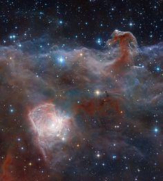 APOD: Horsehead: A Wider View (2018 Mar 09) Composition and Processing: Robert Gendler Image Data: ESO, VISTA, HLA, Hubble Heritage (STScI/AURA) https://apod.nasa.gov/apod/ap180309.html