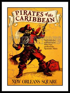 DISNEYLAND NEW ORLEANS SQUARE PIRATES OF THE CARIBBEAN POSTER - VividEditions.com