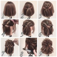 465 Likes 8 Comments Penteados Cabelo Curto ( on Instag Medium Hair Styles, Curly Hair Styles, Hair Arrange, Short Hair Updo, Loose Updo, Pinterest Hair, Hair Images, Short Hairstyles For Women, Fast Hairstyles