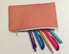 Two Friends - Lovers of Design - Creating products promoting true inner beauty - Pencil Pouch, Little Bag, Winter Collection, Don't Forget, Zip Around Wallet, Backpack, Fall Winter, Polka Dots, Peach