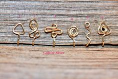 Nose Ring Jewelry, Nose Piercing Jewelry, Ring Earrings, Faux Nose Ring, Wire Wrapped Jewelry, Wire Jewellery, Fake Nose, Toe Rings, Crystal Jewelry