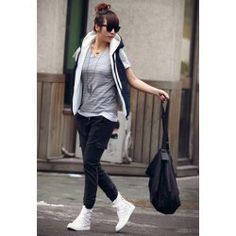 $10.78 Street Style Hooded Quilted Waistcoat For Women