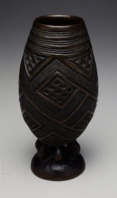 . Palm Wine Cup    Artist Unknown (Kuba) (Democratic Republic of Congo, Africa), 19th century  Wood Africa Art, West Africa, African Words, Congo, African Pottery, Coil Pots, African Crafts, African Sculptures, Art Africain