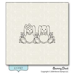 Bunny Duet - Verve Stamps Inspiration Gallery
