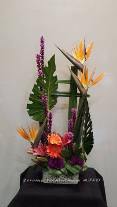 Mixed design with Tropical accents