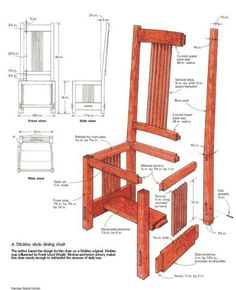 woodworking free plans: chair woodworking plans