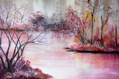 "Acrylmalerei - ""Morgenröte"" Acryl Bild Kunst Landschaft Gemälde - ein…"