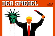 Trump beheading Statue of Liberty - Der Spiegel cover | by Graphic Competitions