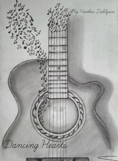 Guitar drawing guitar drawing 314917 guitar sketch art inspiration tips and ideas in 2019 guitar sketch 3d Pencil Sketches, Pencil Drawings Tumblr, Music Drawings, Art Drawings Sketches, Love Drawings, Pencil Sketching, Easy Sketches, Creative Pencil Drawings, Pencil Drawings For Beginners