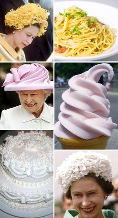 la reine et ses chapeaux-gâteaux, juin 2012