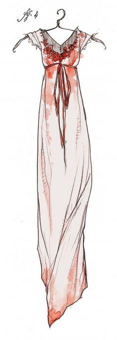 abigail larson, stain dress