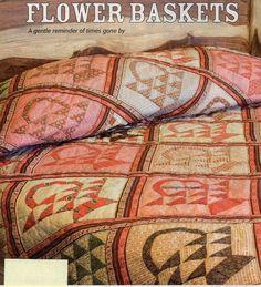 Flower Baskets Classic Quilt Pattern Pieced/Applique UA