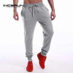 Sale Today $12.74, Buy INCERUN Long Sweatpants Men's Trousers Sporting Pants Men Casual Joggers Workout Slacks Mens Sportswear Male Tracksuit Bottoms