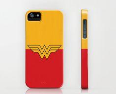 "DC Comic Book Character Minimalist Artwork ""Wonder Woman"" iPhone iPod Touch Case Cover Shell - Retro Superhero Style Marvel Comics"
