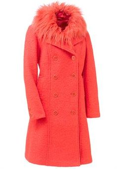 2690a6f17430b Plus Size Mongolian Faux Fur Collar and Boucle Coat Plus Size Outerwear