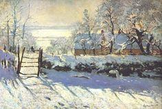 §§§ * The Magpie ~ Claude Monet 1869