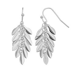 LC Lauren Conrad Leaf Cluster Drop Earrings