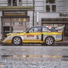 regram @audimiddleeast Taking you back to the 1980's when #quattro all-wheel drive was born. A part of the legacy that changed the rallying world- the Audi Sport Quattro S1.  نعود بك إلى حقبة الثمانينات عندما خرجت تقنية #quattro لنظام الدفع الرباعي الدائم إلى النور. ولدت لتغير عالم السباق لتغيّر عالم السباق إلى الأبد... سيارة Audi Sport Quattro S1