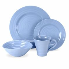 Amazon.com: Portmeirion Sophie Conran Forget Me Not Blue 4-Piece Placesetting: Kitchen & Dining