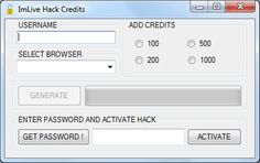 Imlive Credits Adder Free Hack Generator Tool