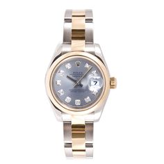 Pre-owned Rolex Women's Datejust Two-tone Oyster Band Silver Diamond Dial Watch | Overstock.com Shopping - The Best Deals on Pre-Owned Rolex Women's Watches