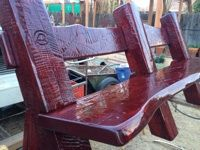 Rodeo Bench: Post and Beam construction aniline dye stain. By Arizona Ranch --Gerry Lemanski Post And Beam, Project Ideas, Projects, Rustic Interiors, Rustic Style, Lodges, Masters, Ranch, Arizona