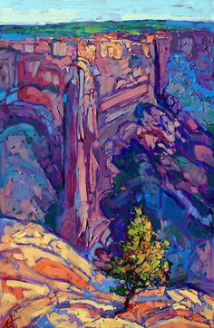 Canyon de Chelly Arizona desert oil painting by Erin Hanson
