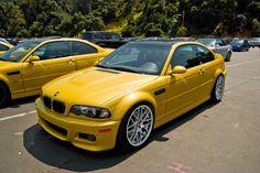BMW E46 M3 #bmw #cars #yellow