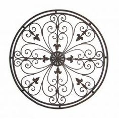 "Metal Gate Wall Decor tuscan wrought iron 50"" garden gate wall grille grill 